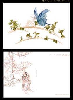Carte Fee Des Ronces Issue Du Livre Feerie Art Chez Fleurus Rectosylphide Et Branche Sepia Au Verso Pour En Savoir Plus Sur Le Dou Est